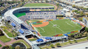 The NY Yankees spring training Steinbrenner Field in Florida was the temporary home of the NASL's Tampa Bay Rowdies