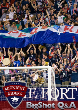 Fran Harrington - President of Midnight Riders (New England Revolution supporters group)