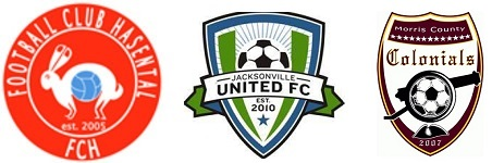 FC Hasental, Jacksonville United, Morris County Colonials, NPSL